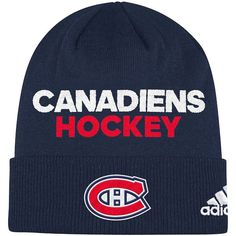 6352801d746 Men s Montreal Canadiens adidas Navy Locker Room Cuffed Knit Hat