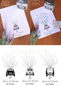 Imprimibles personalizado árbol de huellas para boda beetle, golf y T2 Wedding Bells, Diy Wedding, Party Hacks, Amazing Weddings, Party Printables, Vows, Special Day, Event Planning, Wedding Decorations