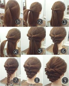 cool braids that are actually easy - Hair - Hair Designs Step By Step Hairstyles, Up Hairstyles, Braided Hairstyles, Updos Hairstyle, Hairstyle Ideas, Easy Elegant Hairstyles, Simple Hairdos, Summer Hairstyles, Teenage Hairstyles