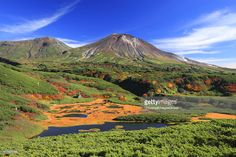 Japan, Hokkaido, Kamikawa, View of Mount Asahi in Daisetsuzan National Park.