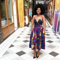 Fatou N'diaye in a skirt by Natacha Baco (www.by-natachabaco.com)