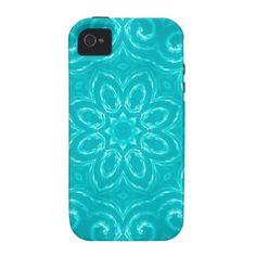 Energy Mandala - Aqua Vibe iPhone 4 Case