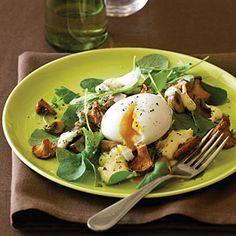 Mushroom and Soft-Cooked Egg Salad with Hollandaise | MyRecipes.com