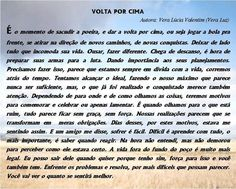 Volta por cima, texto de Vera Lúcia Valentim