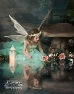 A beautiful little girl fairy by Always Remember Photography