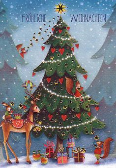 Christmas-card (folded) by Mila Marquis *Minimum order value 10 Euro*