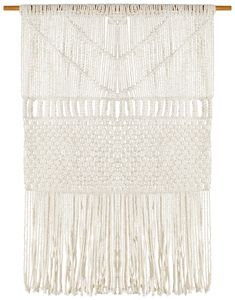 Coastal Macrame Fringed Wall Hanging by Network Rugs. Get it now or find more Wall Accents & Hangings at Temple & Webster. Coastal Rugs, Coastal Style, Hamptons Living Room, Beach Wall Art, Scandi Style, Beautiful Textures, Traditional Rugs, Contemporary Rugs, Weaving Techniques