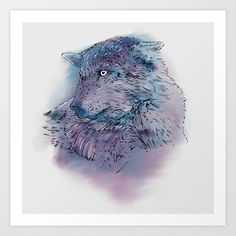 Collect your choice of gallery quality Giclée, or fine art prints custom trimmed by hand in a variety of sizes with a white border for framing. Wolf, Lion Sculpture, Fine Art Prints, Watercolor, Statue, Gallery, Pen And Wash, Watercolor Painting, Roof Rack