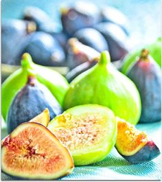 Purple and Green Figs #food