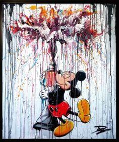 Julien Durix – Lovin colors – Graffiti World Mickey Mouse Tattoos, Mickey Mouse Art, Mickey Mouse Wallpaper, Disney Phone Wallpaper, Mickey Mouse And Friends, Iphone Background Wallpaper, Tableau Pop Art, Disney Paintings, Art Disney