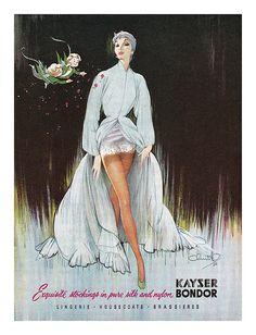 1951 Kayser Bondor stockings ad   Flickr - Photo Sharing!