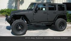 BLACK JEEP RUBICON | Vehicle Feature: Overbuilt Custom's Jeep Rubicon Unlimited Sinister ...