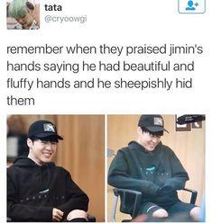 BTS jiminiie so cute  love his cute hands and his shyness
