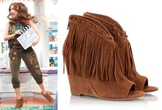 Riley Matthews (Rowan Blanchard) wears an Ash Janis Fringe Bootie in the color…