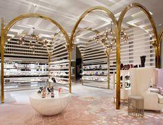 Level Shoe District by Shed Design Design Shop, Shoe Store Design, Jewelry Store Design, Showroom Design, Retail Store Design, Shed Design, Interior Design Companies, Retail Shop, Shop Interior Design