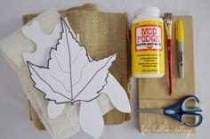 Fall Burlap and Paper Sack Craft Tutorial Supplies