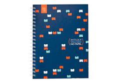 Caderno Espiral Grande com Capa Dura Crer Para Ver - 96 folhas