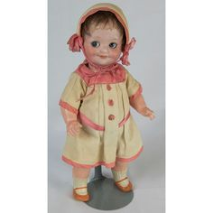 """French 10"""" Googly Eyed Bisque Toddler Arman Marseille AM 323"""