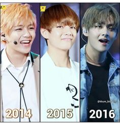 V evolution 😍❤️ hasn't changed haha and I love him for that STAY THE SAME BABY ALIEN!!