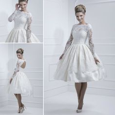 Kurzer eleganter langer Ärmel sexy Hochzeitskleid http://www.gloria-agostina.com/de/