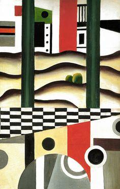 Fernand Leger - The Bridge, 1923 at Museo Thyssen-Bornemisza Madrid Spain
