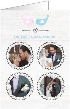 carte de remerciement mariage bois disponible en 4 formats et personnaliser sur popcarte - Remerciement Mariage Personne Absente