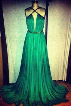 grünen Kleid