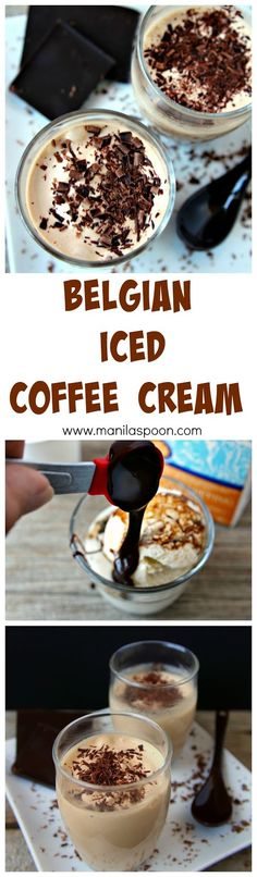Espresso, chocolate and ice cream in one dessert - need I say more? Just 5 minutes or less to make this yummy Belgian Iced Coffee Cream!