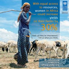 With equal access to resources women in Africa could increase yields on their farms by 30%