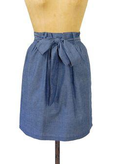 Lunch Date Skirt in Denim http   spottedmoth.com bottoms lunch b26f54440