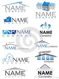 construction logos | Set of house construction logos