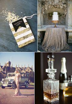 Great Gatsby Wedding Inspiration ✈ Friday's FAB 5 | Fly Away Bride