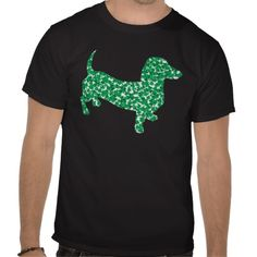 Patrick's Day Dachshund T-Shirt created by Incatneato. St Patricks Day Clothing, Dachshund Gifts, Kinds Of Clothes, Tshirt Colors, Fitness Models, Cute Outfits, Weiner Dogs, Dachshunds, My Style