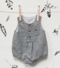 Double fabric grey romper suit - Zara Kids