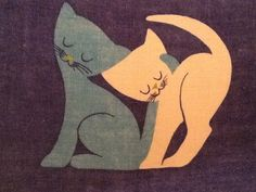 1960/70s Ulster Kitty Tea Towel by NWMonkeyGirl on Etsy