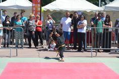 Journée Handisport Passion Partage, place d'Armes à Toulon, le 17 mai 2014.Démo d'Aïkido en fin de matinée