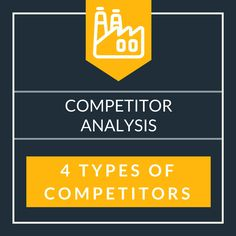 Competitor Analysis – 4 Types of Competitors in the Market Environment