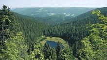 #Seensteig: Blick auf den Huzenbacher See, #Baiersbronn, #Schwarzwald