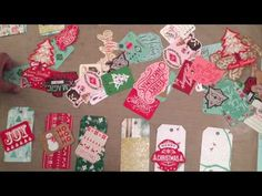 ▶ Christmas tags and bags start to finish for ArtAttack - YouTube