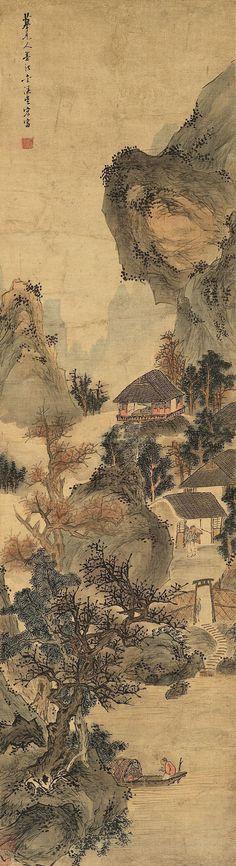 Wu Hong(吴宏) ,  摹元人墨法