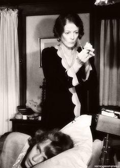 "Maggie Smith and Mia Farrow, Agatha Christie's ""Death On The Nile"", 1978."