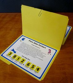 Place Value Partners Game - Common Core aligned with 2.NBT.A.3, 4.NBT.2, and 5.NBT.3  Whole numbers and decimals. Great for math centers and cooperative learning. Fun way to review! $ #LauraCandler