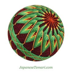 fiber art Green Envy Japanese Temari by Barbara by JapaneseTemari, $45.00