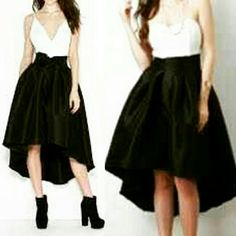 High waist skirt High waist skirt with front bow www.facebook.com/lachulaboutiquesac Boutique  Skirts Midi