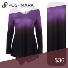 Woman's & PLUS Avail Ombré asymmetrical  PreOrder Ombré asymmetrical tunic PreOrder & save. 🌸I am offering a preorder discount (10% off) if you're interested in grabbing this before it's gone. 👗👗👗 just leave a comment with the size you need and I will create a listing for you. 🤗🤗🤗 PLEASE REFER TO SIZE CHART Tops Tunics