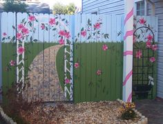 Murals on fences costs nothing more than paint.