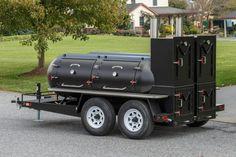 Meadow Creek TS500 Reverse-Flow Barbeque Smoker Trailer