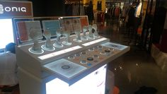 Clarisonic Display Ipad Bar Presentation Products Drawers Brushes Led Lighting Movable Lightbox Yamei POS