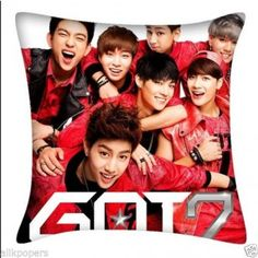 Kpop GOT7 Two-side Square Pillow Throw Pillows Jackson Jr Mark YoungJae BamBam New
