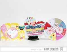 Spring cards by Gina Lideros from American Crafts.